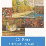 12 Free Autumn Colors Vintage Dictionary Pages