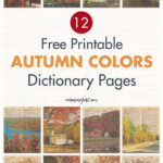 12 Free Printable Autumn Colors Dictionary Pages