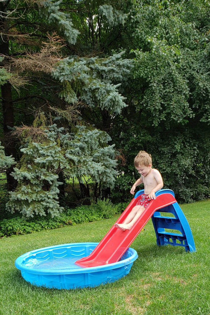 Slide Into Kiddie Pool
