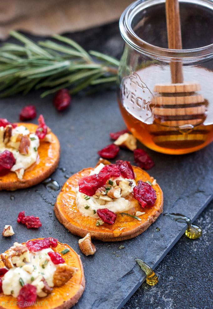 Cranberry Pecan Goat Cheese Sweet Potato Bites Recipe Runner