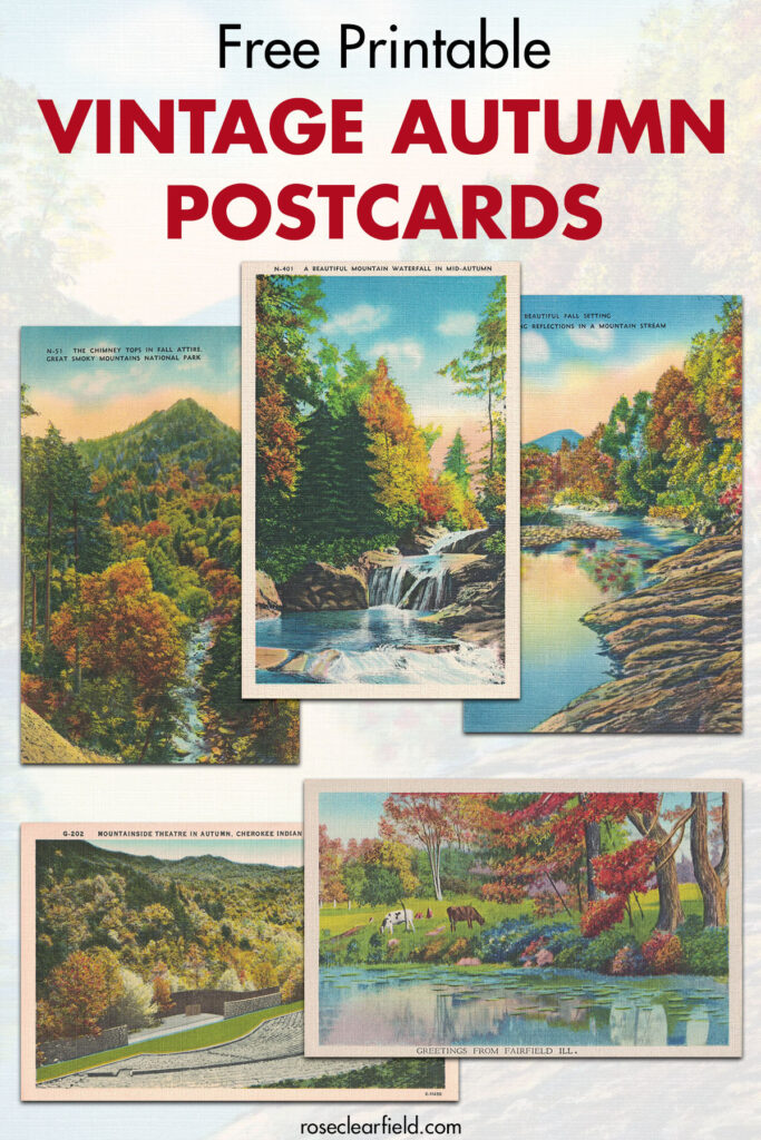 Free Printable Vintage Autumn Postcards