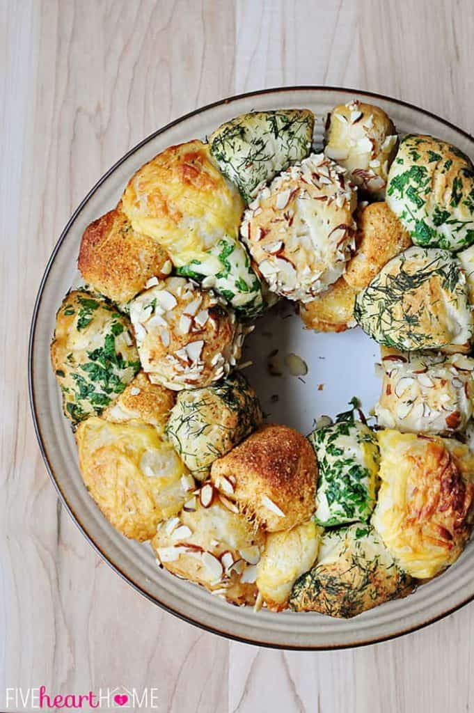 Savory Herb and Cheese Monkey Bread Five Heart Home