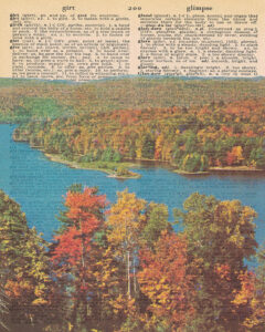 Vintage Dictionary G Page Fall Scene 8x10