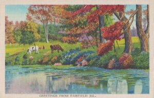 Vintage Postcard Greetings From Fairfield IL