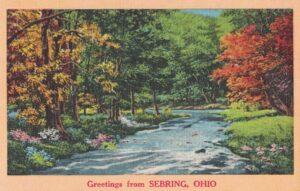 Vintage Postcard Greetings From Sebring OH