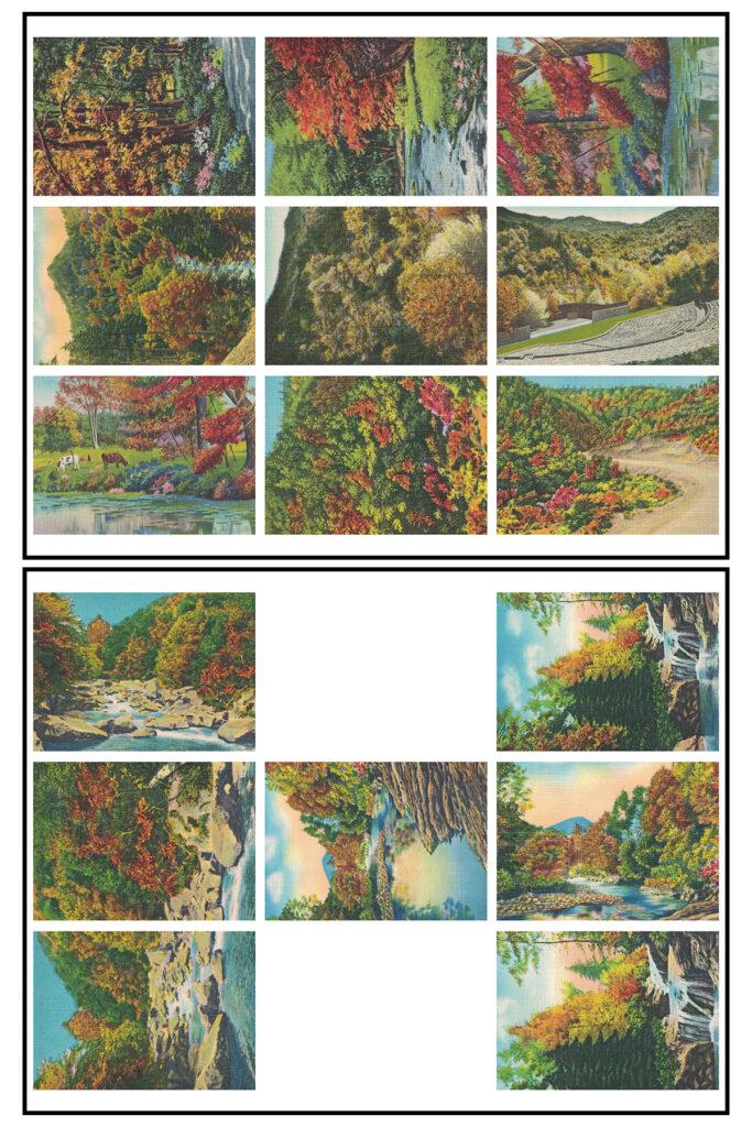 Vintage Postcards Autumn ATC 8.5x11 Pages Preview