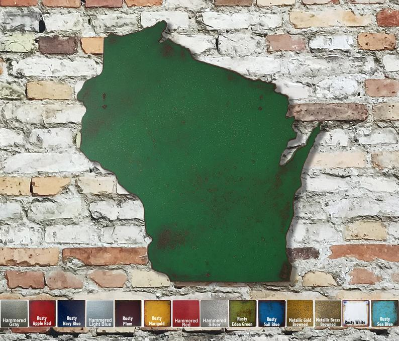 Wisconsin Metal Wall Art FunctionalSculpture on Etsy