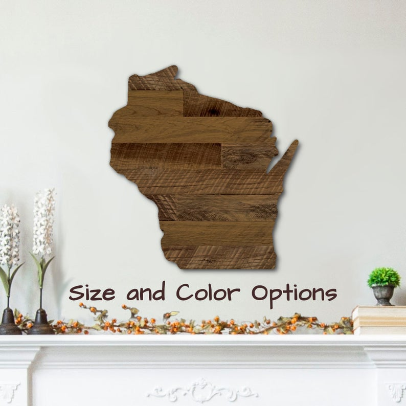 Reclaimed Pallet Wood Wisconsin Art StreetwoodDesign on Etsy