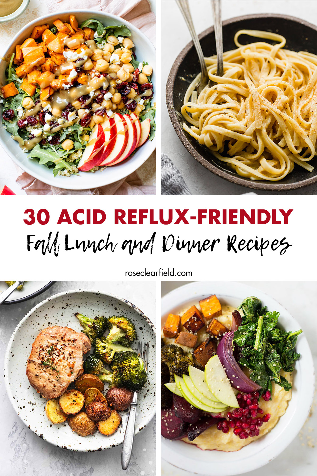 30 Acid Reflux Friendly Fall Lunch And Dinner Recipes Rose Clearfield