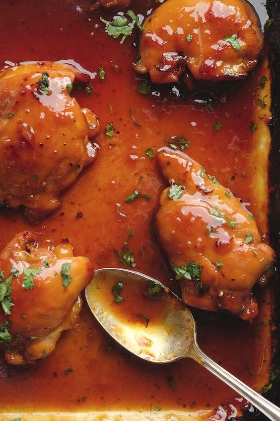 Apricot Glazed Chicken Shutterbean