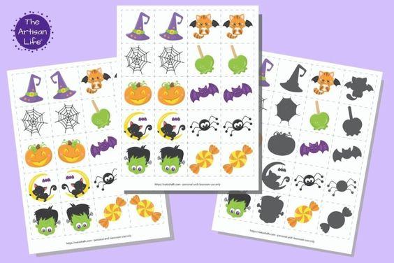 Free Printable Halloween Matching Cards The Artisan Life