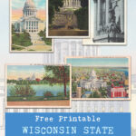 Free Printable Wisconsin State Capitol Building Vintage Postcards