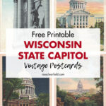 Free Printable Wisconsin State Capitol Vintage Postcards
