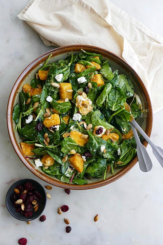 Roasted Pumpkin Salad With Apple Cider Dressing It's a Veg World After All
