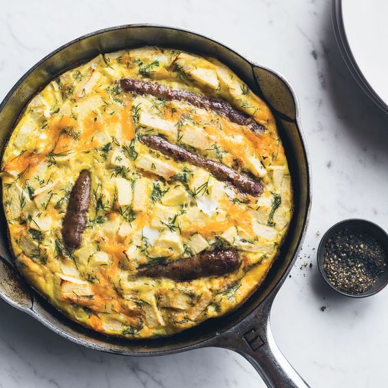 Sausage and Apple Frittata With Dill Food & Wine