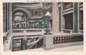 Vintage Postcard Madison Capitol East Gallery