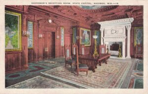 Vintage Postcard Madison Capitol Governor's Reception Room