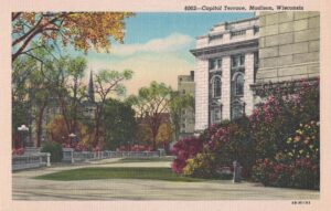 Vintage Postcard Madison Capitol Terrace