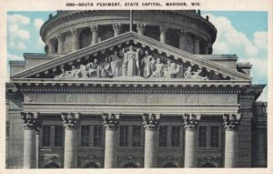 Vintage Postcard Wisconsin Capitol South Pediment