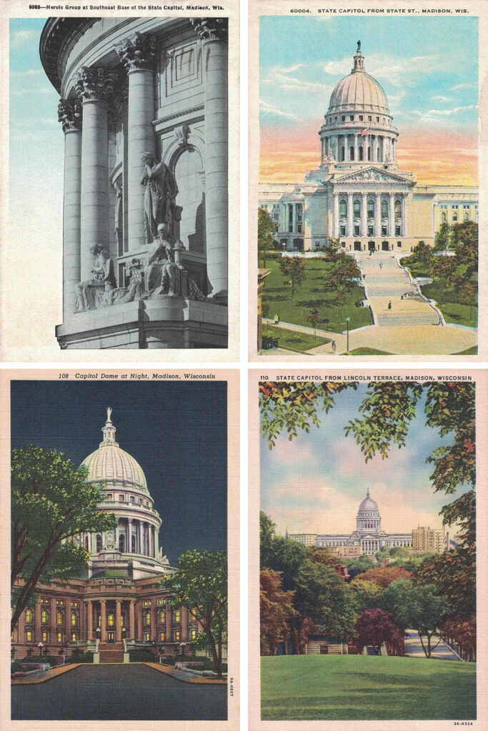 Wisconsin State Capitol Vintage Postcards Collage