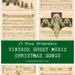 13 Free Printable Vintage Sheet Music Christmas Songs