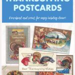 14 Free Vintage Thanksgiving Postcards