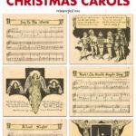 Free Printable Vintage Beginner Piano Christmas Carols