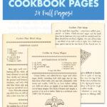 Free Printable Vintage Christmas Cookie Cookbook Pages