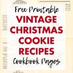 Free Printable Vintage Christmas Cookie Recipes Cookbook Pages