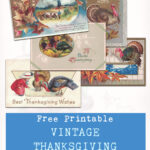 Free Printable Vintage Thanksgiving Postcard Collection