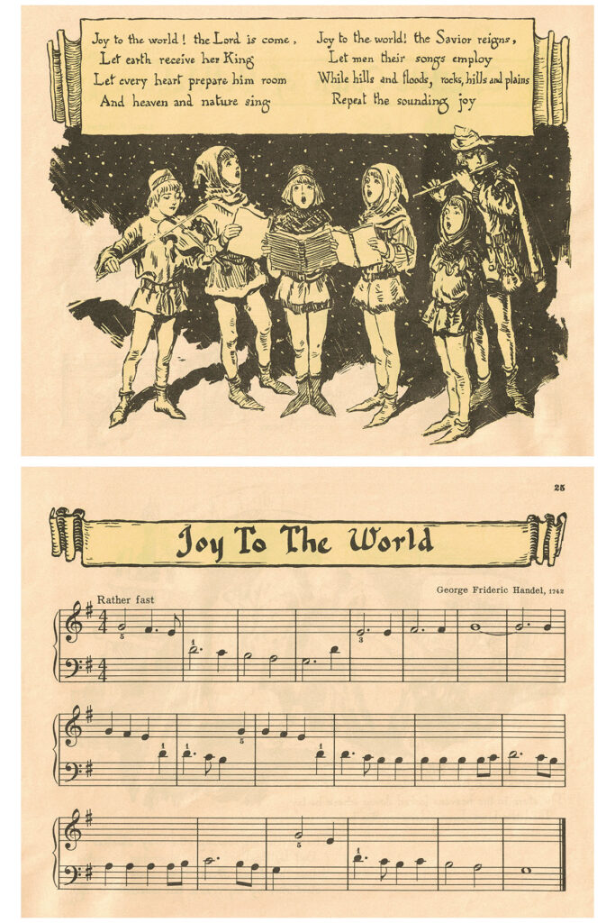 Vintage Beginner Piano Christmas Carols Joy to the World Preview