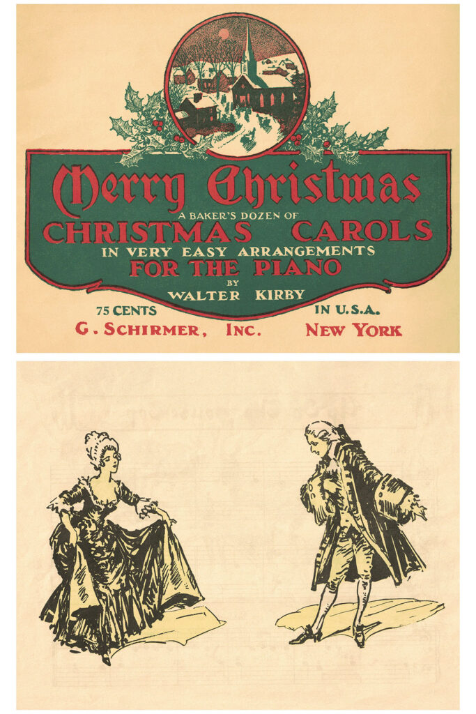 Vintage Beginner Piano Christmas Carols Music Cover Final Image Preview
