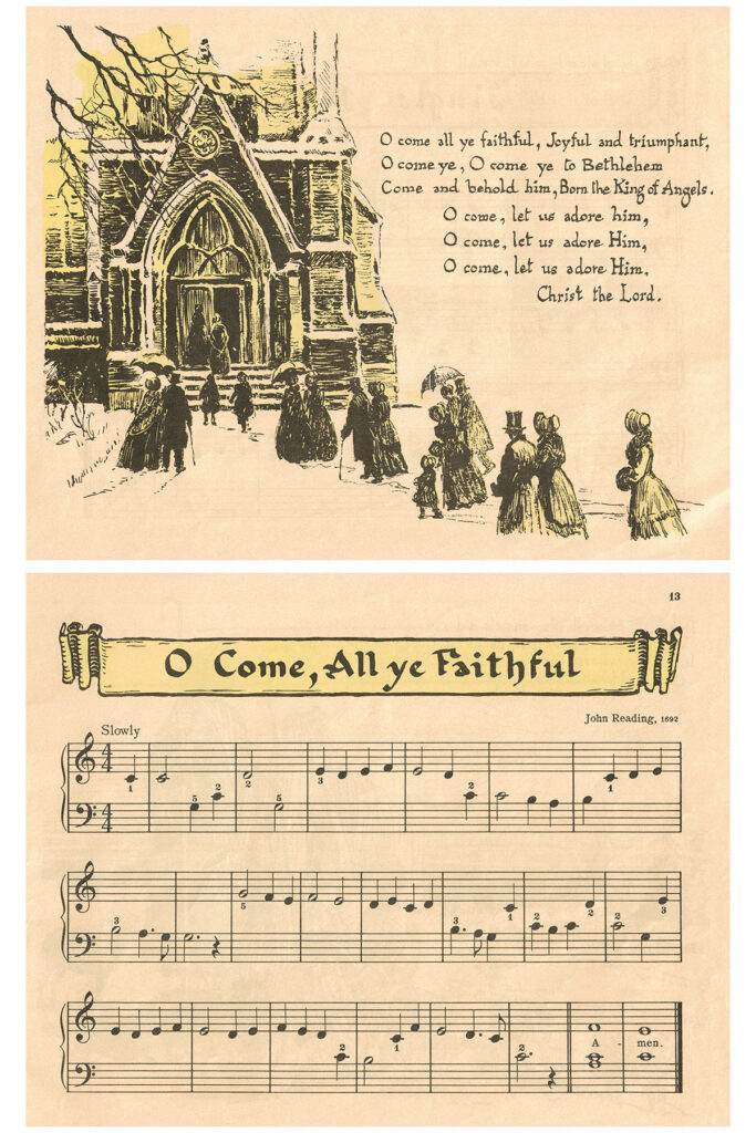 Vintage Beginner Piano Christmas Carols O Come All Ye Faithful Preview