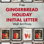 Free Gingerbread Holiday Initial Letter Wall Art Prints