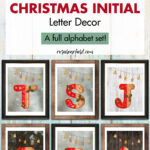 Free Printable Gingerbread Christmas Initial Letter Decor