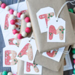 Free Printable Gingerbread Initial Letter Christmas Gift Tags