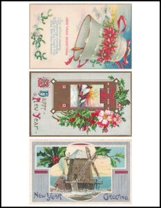 Vintage New Year's Postcards 8.5x11 Page