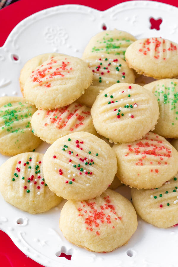 Whipped Shortbread Cookies Just So Tasty