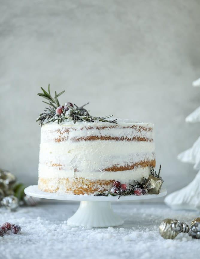 White Christmas Sparkle Cake How Sweet Eats