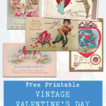 Free Printable Vintage Valentine's Day Postcard Collection