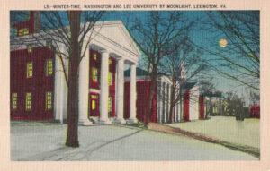 Vintage Postcard Lexington Virginia Washington and Lee University by Moonlight