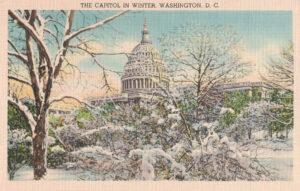 Vintage Postcard Washington DC The Capitol in Winter