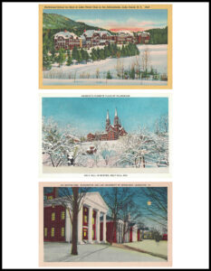 Vintage Postcards Winter 8.5x11 Page Preview