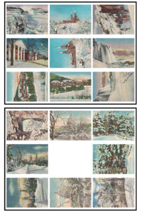 Vintage Postcards Winter ATC Size 8.5x11 Pages Preview