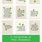 A Collection of Free Printable Irish Proverbs Wall Decor