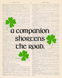A Companion Shortens the Road Dictionary Page 8x10