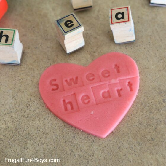 Conversation Heart Play Doh Activity Frugal Fun 4 Boys