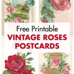 Free Printable Vintage Roses Postcards