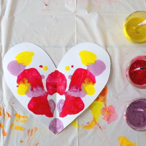 Heart Symmetry Painting The Artful Parent
