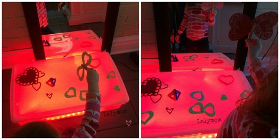 Light Table Activities for Valentine's Day Lalymom